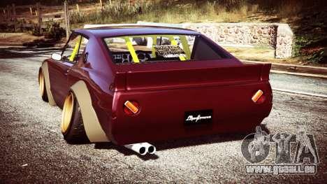 GTA 5 Nissan Skyline GT-R C110 Liberty Walk [replace] arrière vue latérale gauche