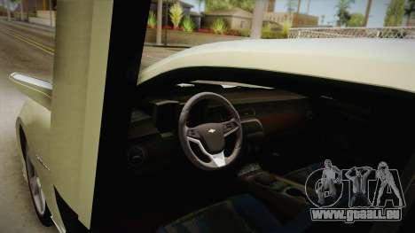 Chevrolet Camaro Synergy für GTA San Andreas Innenansicht