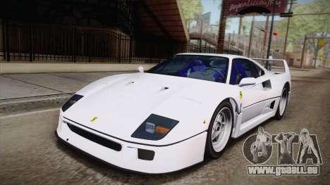Ferrari F40 (EU-Spec) 1989 HQLM pour GTA San Andreas