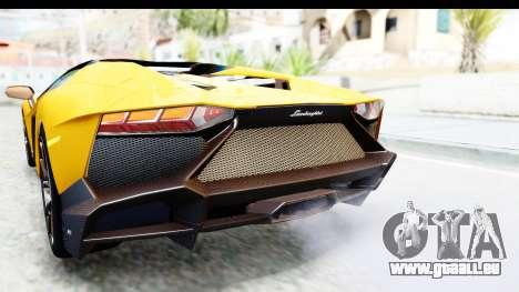 Lamborghini Aventador LP720-4 Roadster 2013 für GTA San Andreas Innen
