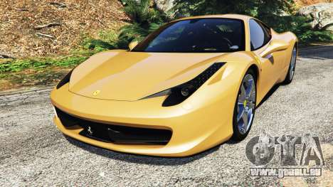 Ferrari 458 Italia [add-on] pour GTA 5