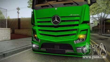 Mercedes-Benz Actros Mp4 6x2 v2.0 Bigspace pour GTA San Andreas vue intérieure