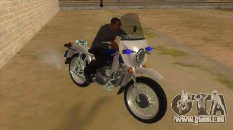 Oural De La Police pour GTA San Andreas vue arrière