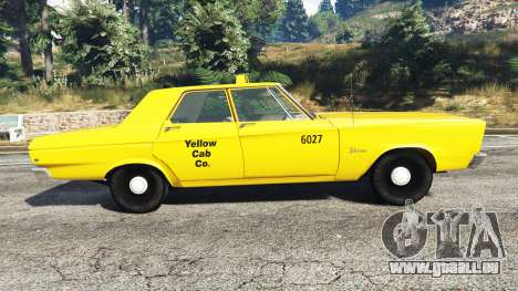 GTA 5 Plymouth Belvedere 1965 Taxi [replace] vue latérale gauche