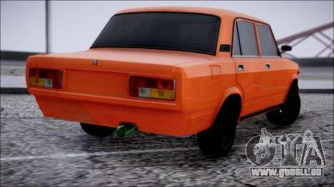 VAZ 2105 Pigler pour GTA San Andreas laissé vue