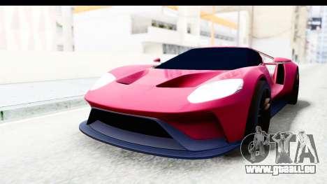 Ford GT 2016 für GTA San Andreas rechten Ansicht