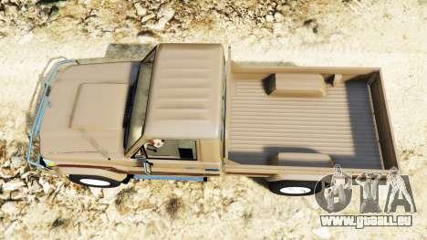 GTA 5 Toyota Land Cruiser (J79) 2016 Rückansicht