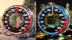 Compteur de vitesse GTA SA Style V16x9 (écran la