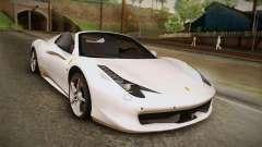 Ferrari 458 Spider für GTA San Andreas