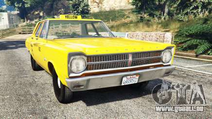 Plymouth Belvedere 1965 Taxi [replace] pour GTA 5