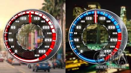 Tacho GTA SA Stil V16x9 (widescreen) für GTA San Andreas