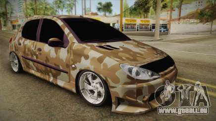 Peugeot 206 Army pour GTA San Andreas