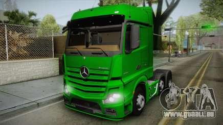Mercedes-Benz Actros Mp4 6x2 v2.0 Bigspace für GTA San Andreas