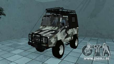 LUAZ 969М Winter camo für GTA San Andreas