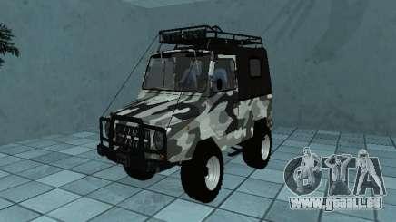 LUAZ 969М Hiver camo pour GTA San Andreas