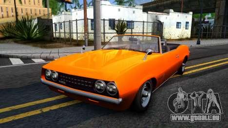 GTA V Declasse Vigero Retro Rim pour GTA San Andreas