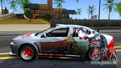 Ogasawara Haruka MITSUBISHI EVO X Itasha pour GTA San Andreas laissé vue