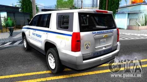 2015 Chevy Tahoe San Andreas State Trooper pour GTA San Andreas vue de droite