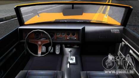 GTA V Declasse Vigero Retro Rim pour GTA San Andreas vue intérieure