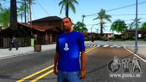 T-Shirt PS4 für GTA San Andreas