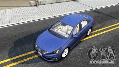 Hyundai Sonata 2016 für GTA San Andreas Rückansicht
