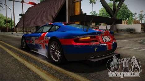 Aston Martin Racing DBRS9 GT3 2006 v1.0.6 Dirt für GTA San Andreas