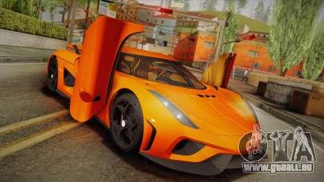 Koenigsegg Regera 2016 Bonus für GTA San Andreas