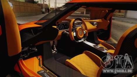 Koenigsegg Regera 2016 Bonus für GTA San Andreas zurück linke Ansicht