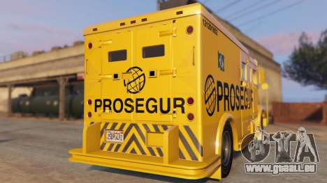 GTA 5 Carro Forte Prosegur Brasil arrière vue latérale gauche