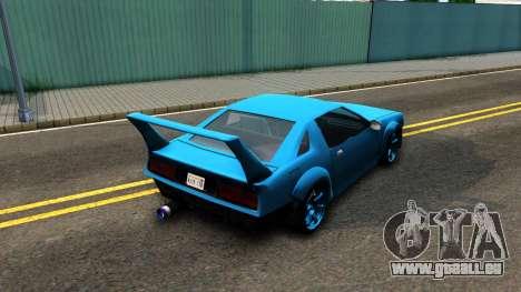 New Buffalo Custom pour GTA San Andreas sur la vue arrière gauche