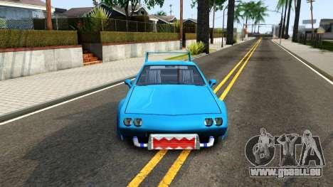 New Buffalo Custom pour GTA San Andreas vue intérieure