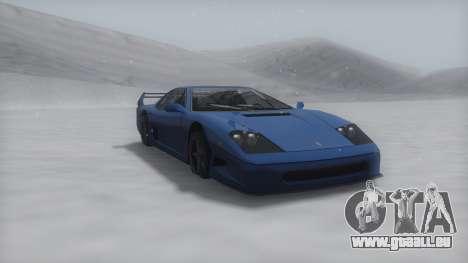 Turismo Winter IVF pour GTA San Andreas laissé vue