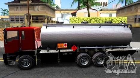 GTA V MTL Dune Oil Tanker für GTA San Andreas linke Ansicht