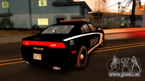 2014 Dodge Charger Cleveland TN Police pour GTA San Andreas sur la vue arrière gauche