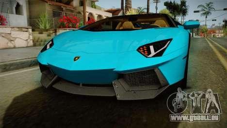 Lamborghini Aventador Itasha Rias Gremory pour GTA San Andreas vue de dessus