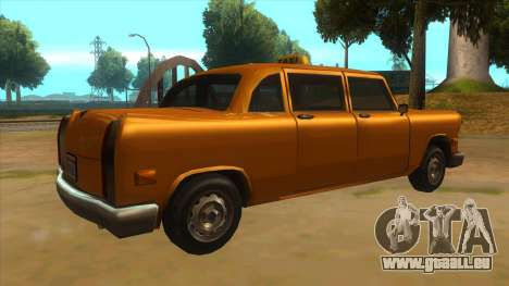 VC Cabbie Xbox pour GTA San Andreas vue de droite