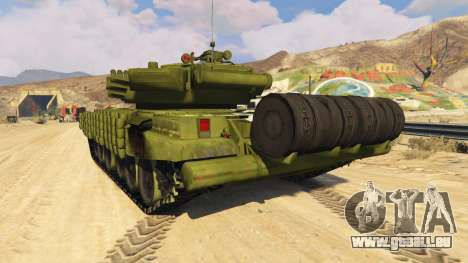 GTA 5 Tank T-72 arrière vue latérale gauche
