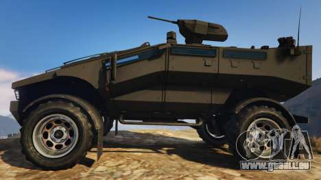 GTA 5 Punisher Black Armed Version vue latérale gauche