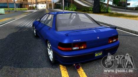 GTA V Zirconium Stratum Sedan pour GTA San Andreas sur la vue arrière gauche