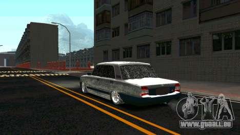 2107 Classique 2 Winter edition pour GTA San Andreas sur la vue arrière gauche