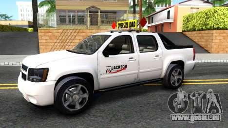 2007 Chevy Avalanche - Pilot Car für GTA San Andreas linke Ansicht