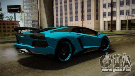 Lamborghini Aventador Itasha Rias Gremory für GTA San Andreas linke Ansicht