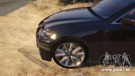 GTA 5 Lexus GS 350 arrière droit vue de côté