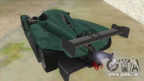 Praga R1 pour GTA San Andreas sur la vue arrière gauche