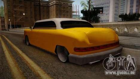 Custom Cab pour GTA San Andreas sur la vue arrière gauche
