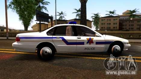 Chevy Caprice Hometown Police 1996 pour GTA San Andreas laissé vue