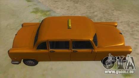VC Cabbie Xbox pour GTA San Andreas vue intérieure