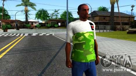 Design Camouflage T-Shirt für GTA San Andreas zweiten Screenshot