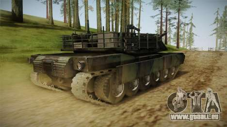 Abrams Tank Woolant Camo pour GTA San Andreas sur la vue arrière gauche