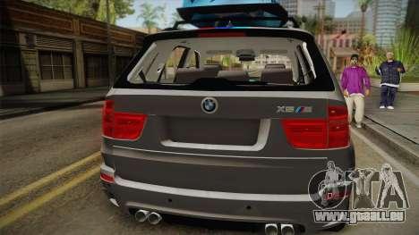 BMW X5M 2012 Special pour GTA San Andreas vue arrière